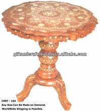 carved wooden end tables
