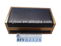 PU leather covered perfume box with dividers