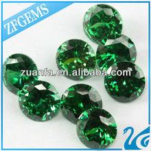wuzhou hot sell emerald round cut cubic zircon