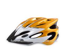 Brush Clean yellow bike helmet A008