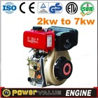 Hot sale 5.0kw/6.7HP Air-cooled 4-Stroke Silent Engine Strong Power Portable Engine Generator Parts Diesel Engine ZH178F(E)