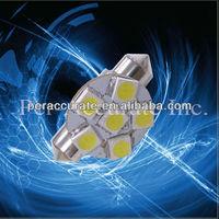 Auto LED Bulb Spotlight Lamp Festoon 6SMD 5050 LED Interior lamp 12v PA