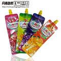 Colorido embalagem de suco de morango saco, laranja, mango, plástico bolsa de jorro para suco de bebidas saco