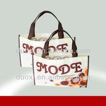 Eco-friendly non woven plain tote bags decorating women bag