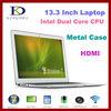 I7 Windows 8 Laptop 13.3 inch Intel Notebook computer Dual Core 1.90Ghz,Quad Threads,8GB RAM& 128GB SSD,8400mAh Battery