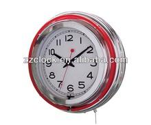 14 inch double neon wall clock