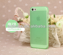 For IPhone 5c Colourful ultra-thin candy color Transparent TPU case
