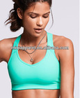 Four needles and six threads technology and fitness wear women's sport yoga bra