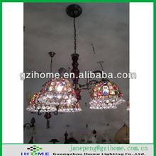 multi colored glass chandelier