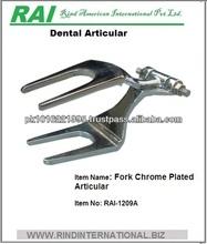Dental Nickle Chromium Plated Articular Fork Pattern