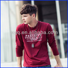 2015 Amercian style men stylish long sleeve t shirt/cheap wholesale fitness clothing and online shopping for clothing