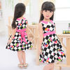 2014 hot sale girls boutique clothing plaid with flowers printing fabric