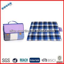 Eco-friendly wholesale portable custom printed handle bag for picnic blanket/ beach camping mat