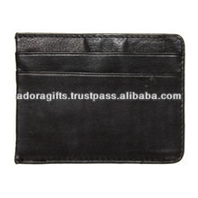 Fashionable card case / new business name card case / blank leather card holder