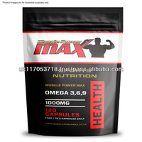 Muscle Power Max Foil Pack Omega Fish Oils 3,6,9 High Strength Capsule Wholesale Diet Supplements