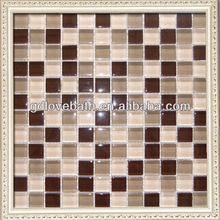 bathroom floor glass mosaic tile color combinations