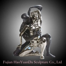 Abstract stainless steel Figure Statue