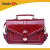 Brand Red Woman Leather Satchel Bag