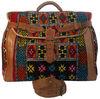 Moroccan kilim bags handmade by kilim and genuine leather multicoloured kilim carpet