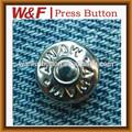 botones de tela vaquera y remache con el logotipo personalizado