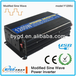 dc to ac solar panel converter 1200w modified wave solar power inverter (Y1200U)
