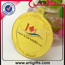 ouro barato de troféus de metal da medalha
