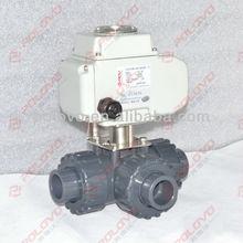 Plastic ball valve electrical 3 way valve water