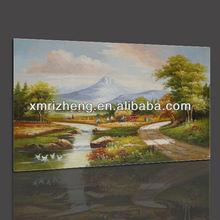 Fine Art Rural Scenery Oil Painting for Room