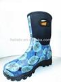 Alta calidad de moda de goma de neopreno mina de botas para la mujer