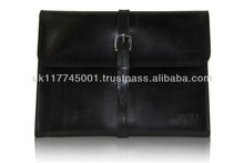 ANU W303 Bridle Leather Cases for iPad [All Models] - Black *Handmade in England, UK*