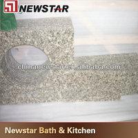 Polished cheap granite vanity top with vessel sink