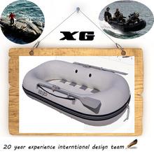 CE 230cm Cando Hypalon/PVC slat bottom sport fishing boat prices
