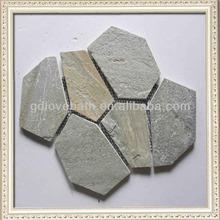 Professional manufacture natural stone mosaic slate tiles