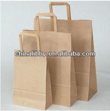 brown kraft paper bag with flat handle