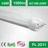 2014 new design 2g11 base led pl tube lighting 14W