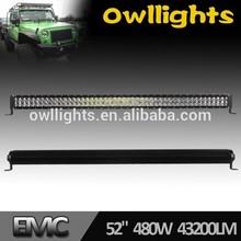 New product Ultra Bright Offroad 288W 300W 480w Curved 50Inch LED Light Bar, LED Driving Light Bar for 4X4 Cars Trucks UTV ATV