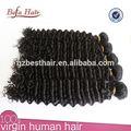 Completo de paquetes de calidad excepcional dyeable y grueso 100% virgen rizado rizado cabello trenzado