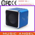 JH-MD07U mini aluminum vibration film loud speaker portable super bass speaker x-vibe vibration speaker for cell phone