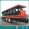Heavy duty flatbed container chassis truck trailer