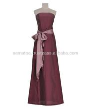 Glamorous evening dress in natural silk
