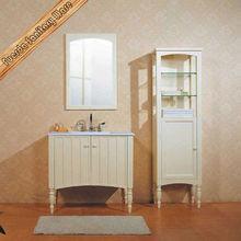 Modern vanity cabinet bamboo bathroom furniture