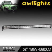 off road led light bar,36w/72w120w/180w/240w/288W led driving light,ip68 auto car accessor ol8020-120