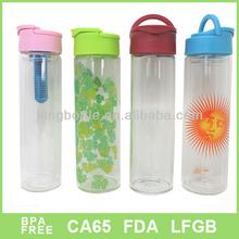 500ml Borosilicate Plain glass drinking bottle