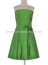 Silk evening dress with an innovative design