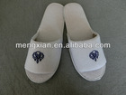 100%cotton velvet lady fashion disposable hotel spa slippers(hot selling)