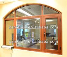 China factory aluminum and glass windows,guangzhou modern aluminum window half circle design
