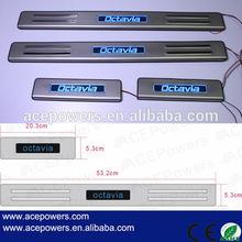 Skoda Octavia car parts auto accessories, LED scuff plate LED door sill