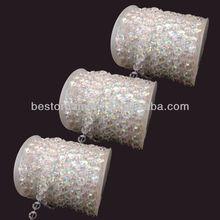Wedding Decoration Iridescent Diamond Crystal Beads Strands Garland