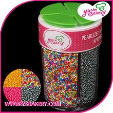 China cake decoration bottle packing 2mm bead Sprinkles Sugars