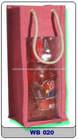 new designed tote burlap fabric wine bottle jute bag with pvc window